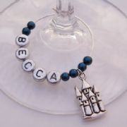 Castle Personalised Wine Glass Charm